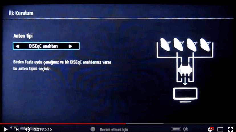 vestel tv uydu seçme